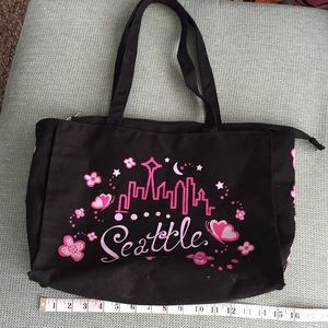 Seattle canvas tote bag